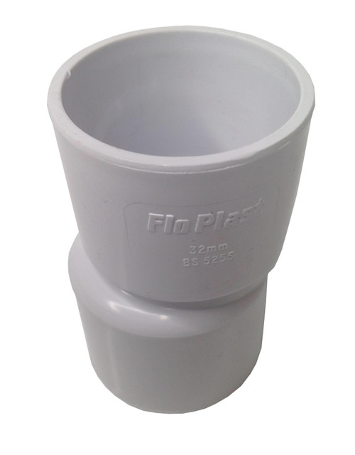 FLOPLAST Solvent White 40mm (43mm) x 32mm (36mm) Eccentric Reducer