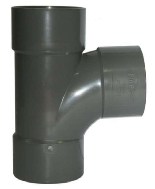50mm Grey Solvent Waste Pipe Swept Tee - ABS