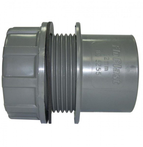 FLOPLAST ABS Solvent 32mm Tank Connector - Grey