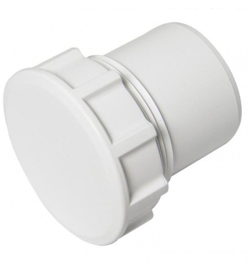 FLOPLAST ABS Solvent 50mm Waste Access Plug - White