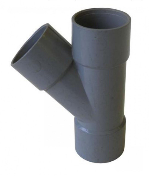 FLOPLAST ABS Solvent 135 Degree 40mm Waste Branch Tee - Grey