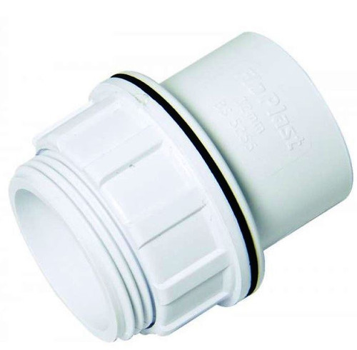 FLOPLAST ABS Solvent 40mm Tank Connector - White