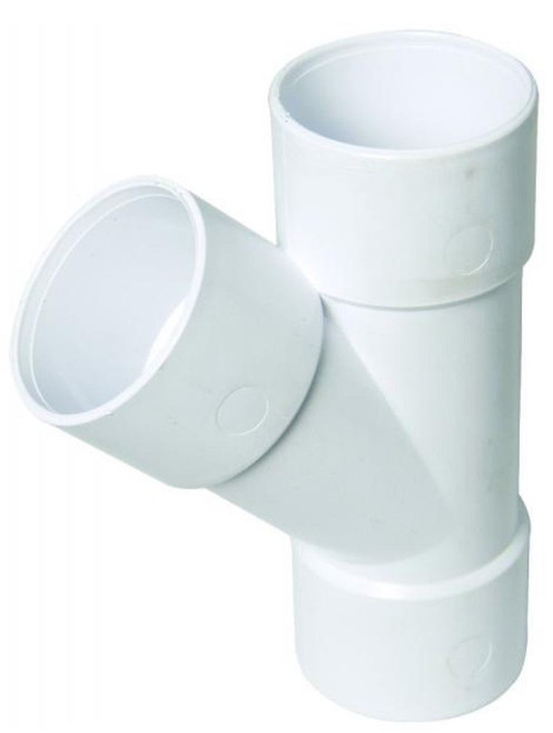 FLOPLAST ABS Solvent 135 Degree 40mm Waste Branch Tee - White