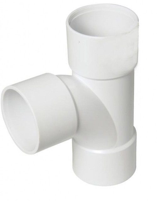 FLOPLAST ABS Solvent 32mm Waste Swept Tee - White