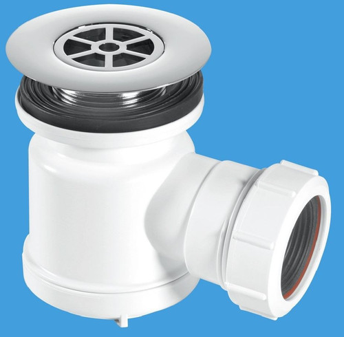 Shallow Shower Trap with 85mm Chromed Plastic Flange - STW7R