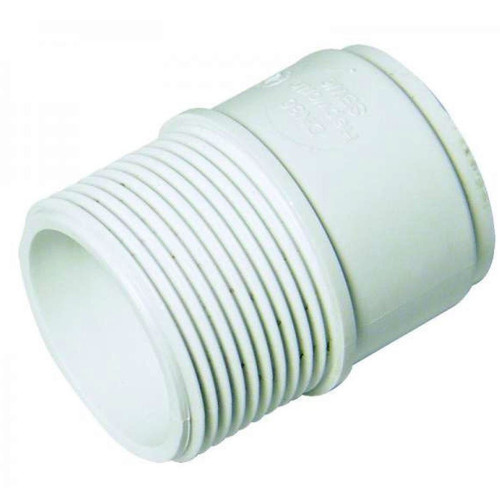FLOPLAST ABS Solvent 40mm Male Adapter - White