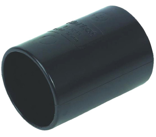 32mm Black Solvent Waste Pipe Coupling - ABS