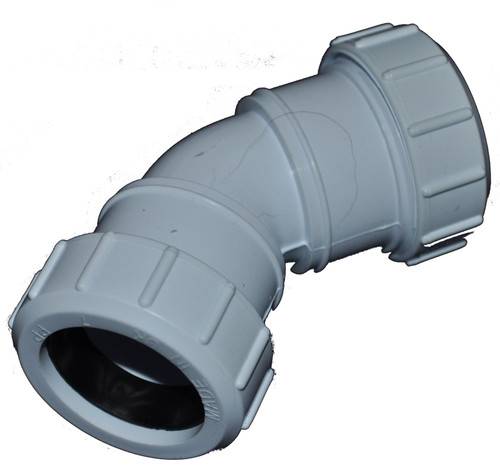 Compression 50mm Waste Pipe 45 Degree Bend