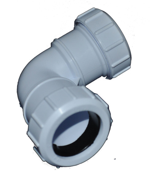 Compression 50mm Waste Pipe 90 Degree Bend
