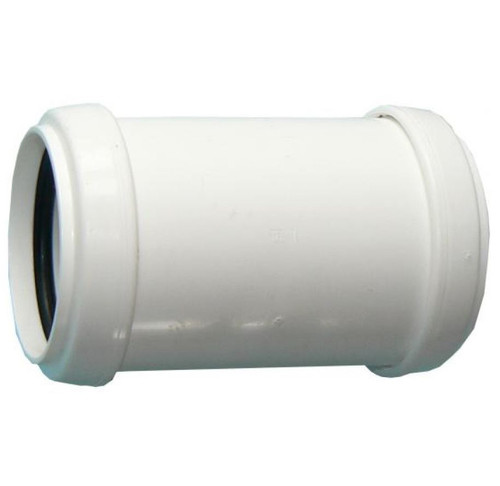 FLOPLAST 40mm White Pushfit Waste Pipe Coupling