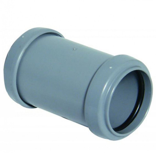 FLOPLAST 40mm Grey Pushfit Waste Pipe Coupling