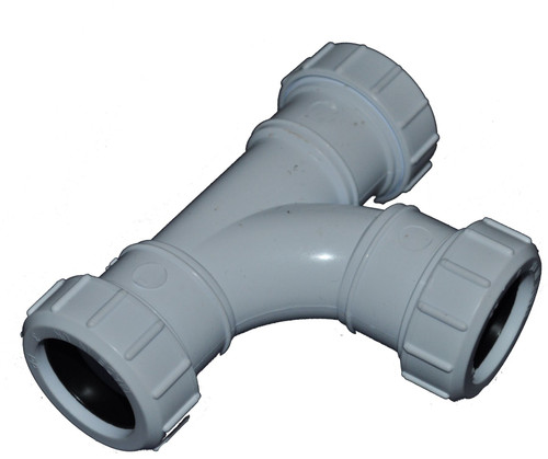 Compression 40mm Waste Pipe Tee