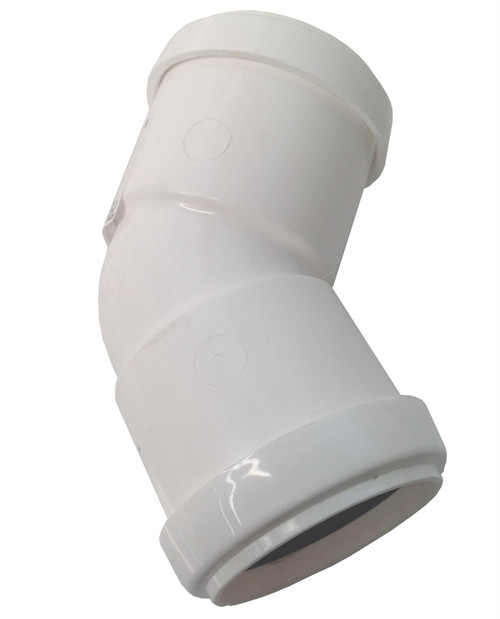FLOPLAST 32mm White Pushfit 45 Degree Waste Pipe Bend