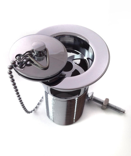 1 1/4 Inch Slotted Basin Waste with Chrome Plug - WBK42CP