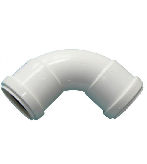 FLOPLAST 32mm White Pushfit Waste Pipe Bend