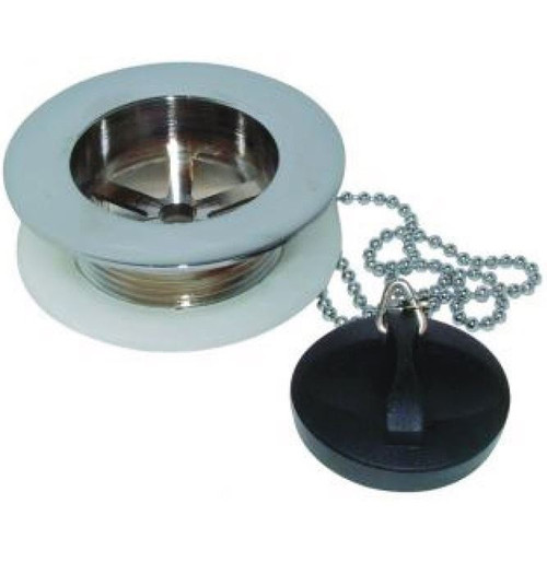 "Macdee Chrome 1.1/2""  Bath Waste with Plug & Chain"