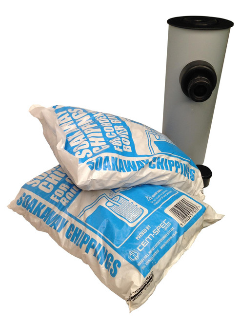 McAlpine condensate soakaway  with 10kg of condensate soakaway limestone chippings