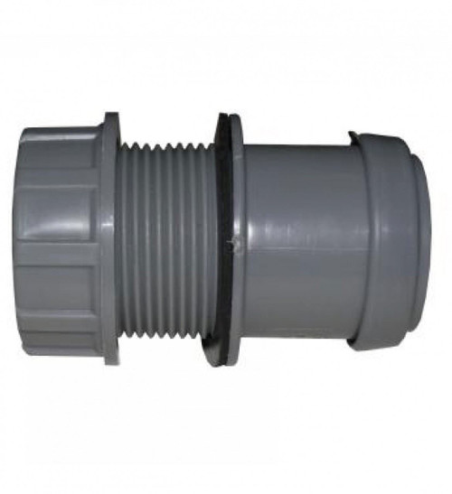 FLOPLAST 40mm Grey Pushfit Waste Tank Connector