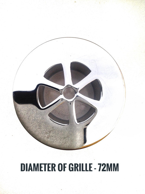 Macdee Chrome Unslotted 1.5 Inch Shower Waste with 73mm Flange