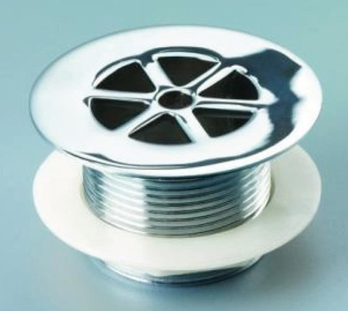 Macdee Chrome Unslotted Shower Waste - 86mm Flange