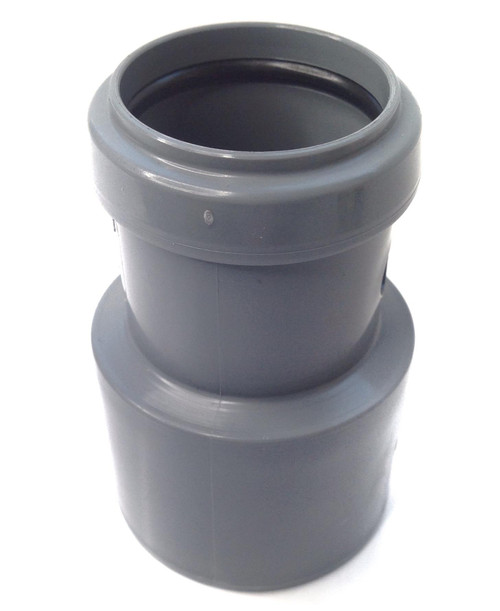 FLOPLAST 50mm x 32mm Grey Pushfit Waste Pipe Reducer