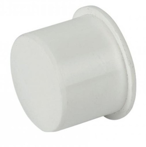 FLOPLAST 40mm White Pushfit Waste Pipe Plug