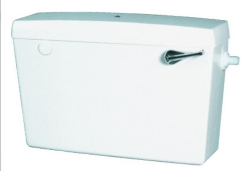 Macdee Concord White Cistern - (Side Inlet, Internal Overflow)