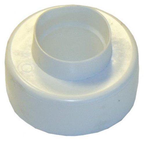 Flushpipe connector - white universal