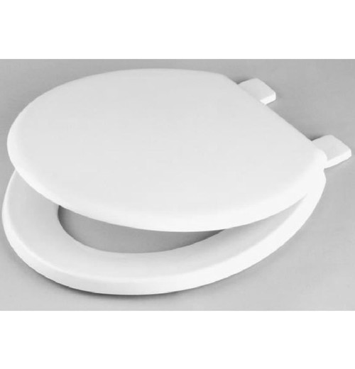 CELMAC Emerald White Toilet Seat with Plastic Hinges