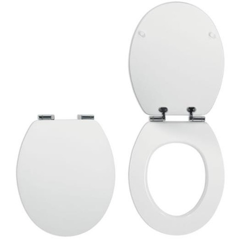 Celmac DIPLOMAT Soft Close Toilet Seat with Polished Chrome Hinges