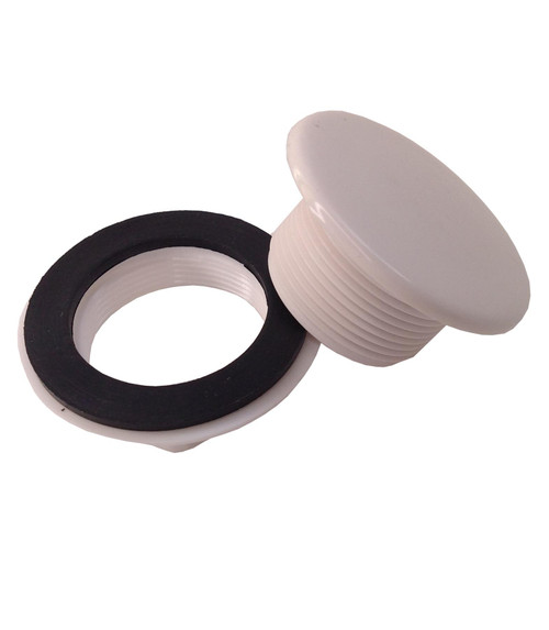 White Tap Hole Stopper with 17mm Long Thread