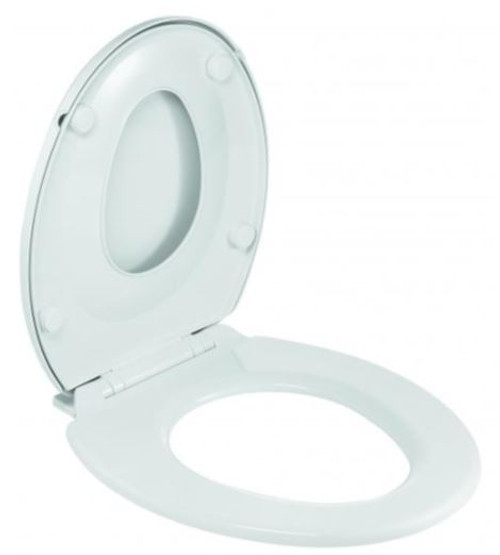 FAMILY White Toilet Seat with Integrated Child Reducer