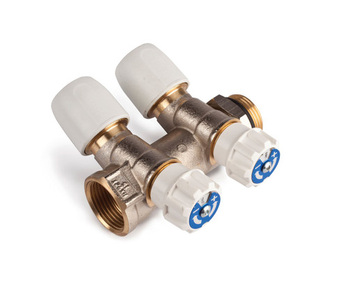 Hep2O 15mm x 3/4 Inch Brass 2 Port Manifold