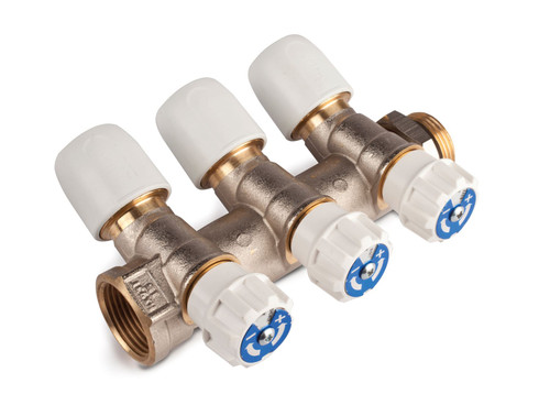 Hep2O 15mm x 3/4 Inch Brass 3 Port Manifold