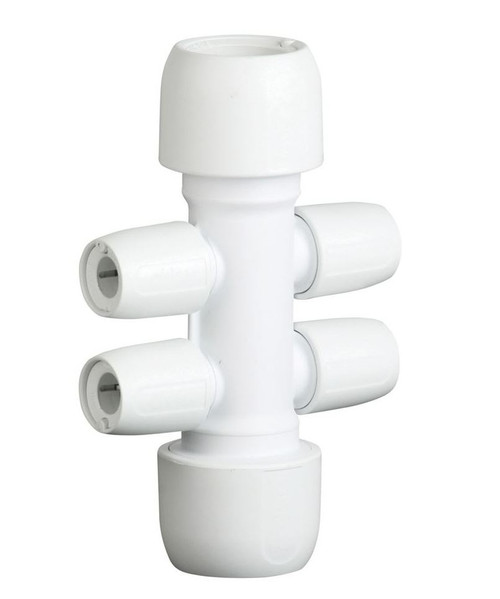 Hep2O 22mm x 10mm 4 Port Open Manifold