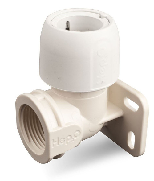 Hep2O 15mm x 1/2 Inch Wallplate Elbow