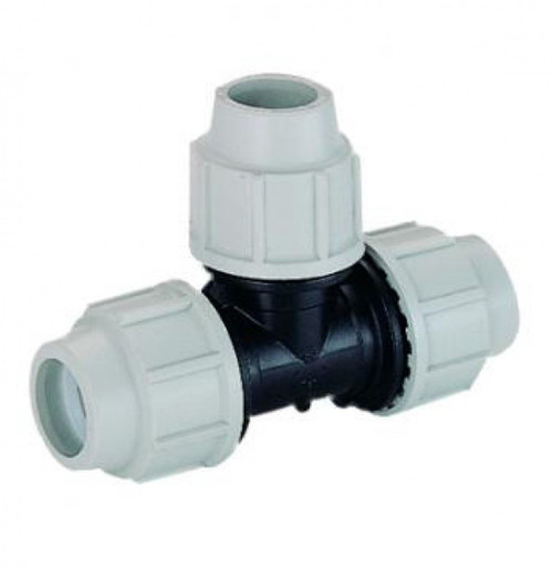 PLASSON MDPE 20mm Equal Tee - 7040