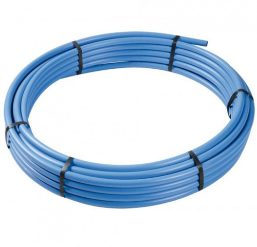 25mm FLOPLAST MDPE Blue Pipe - 25 Metres