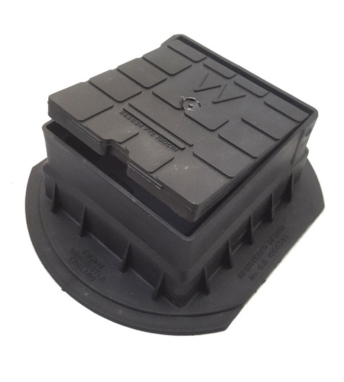 TALBOT Push Fit surface box - water (black) 1202