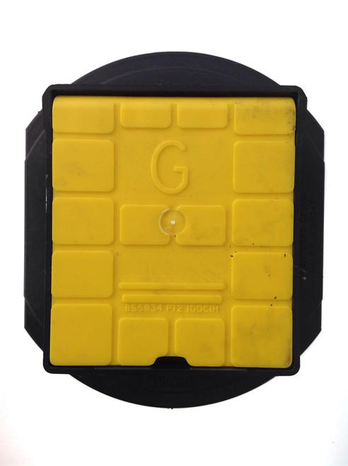 TALBOT Gas Stopcock Yellow Surface Box (Hinged)