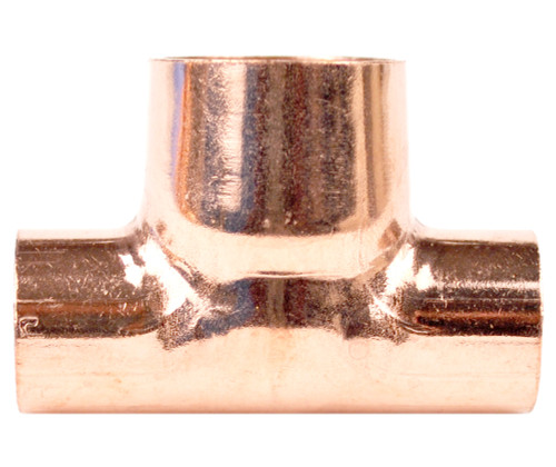 15mm x 15mm x 22mm Reducing Tee - End Feed
