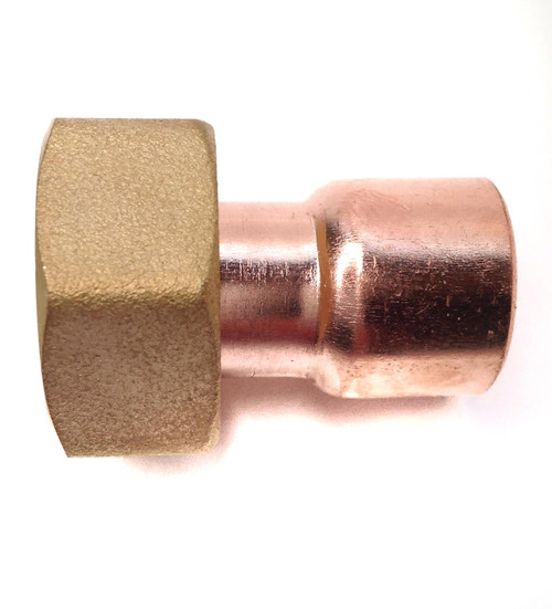 """22mm x 3/4"""" BSP End Feed Straight Tap Connector"""