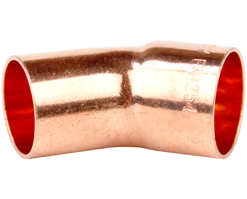 35mm 45 Degree Street Elbow - End Feed