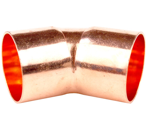 35mm 45 Degree Elbow - End Feed