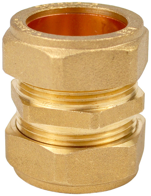 22mm Brass Compression Coupling