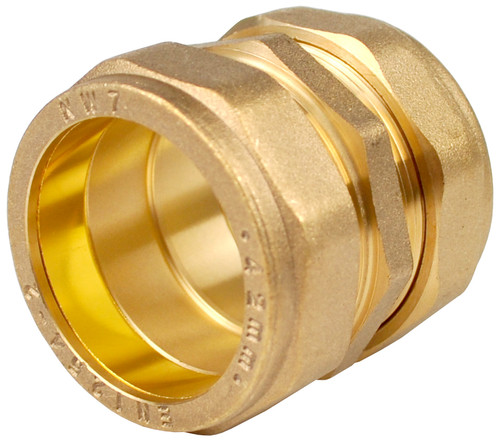 35mm Brass Compression Coupling