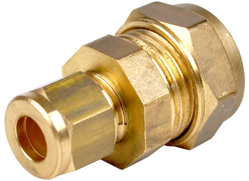 15mm x 8mm Brass Compression Reducing Coupling