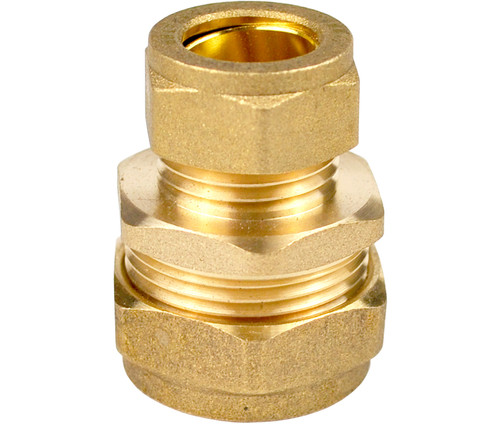 15mm x 12mm Brass Compression Reducing Coupling