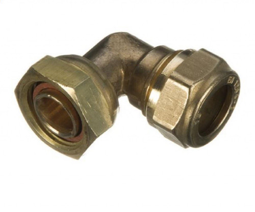 "15mm x 1/2"" Compression Bent Tap Connector"