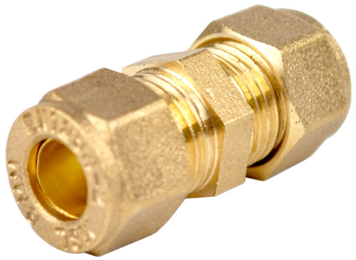 6mm Brass Compression Coupling